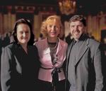 Miriana Majstorevich, Mira Zivkovich and Father Majstorevich at the banquet at the Great Hall at Ellis Island