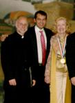 V. Rev. Nicholas Ceko, Brian and his mother Mira Zivkovich