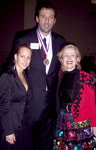 NBA Superstar Philanthropist Vlade Divac with MZI Global CEO Mira Zivkovich and her assistant Ana Lazic