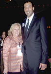 Vlade Divac with NECO Executive Director Rosemarie Taglione