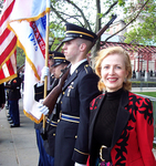 MZI Global CEO Mira Zivkovich with the Honor Guards