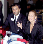 Vlade Divac with Ana Lazic at Metropolitan Club