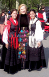 Mira Zivkovich with traditional dancers