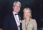Medalist Thomas Stankovich with Mira Zivkovich at the Ellis Island Medal of Honor Gala