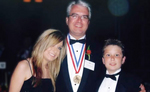 Thomas Stankovich with his son and daughter the Ellis Island Medal of Honor Gala