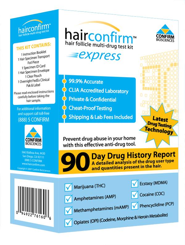 Hair confirm hair follicle drug testing kit hair confirm express drug