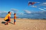 Kite flying on Ocracoke Island