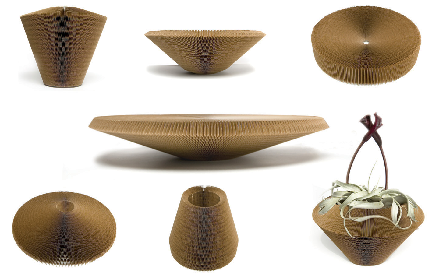 Cardboardesign announces eco friendly liquid cardboard liquid no2some of the shapes vase no2 can create reviewsmspy