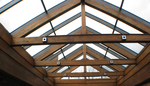 Wood Interior Skylight by Solar Innovations