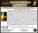 Charlie Daniels featured guest on Lisa's Walk The Talk Show