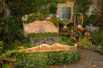 "The ""literal flower bed"" is one of the most popular attractions in the gardens of Cambria Pines Lodge."