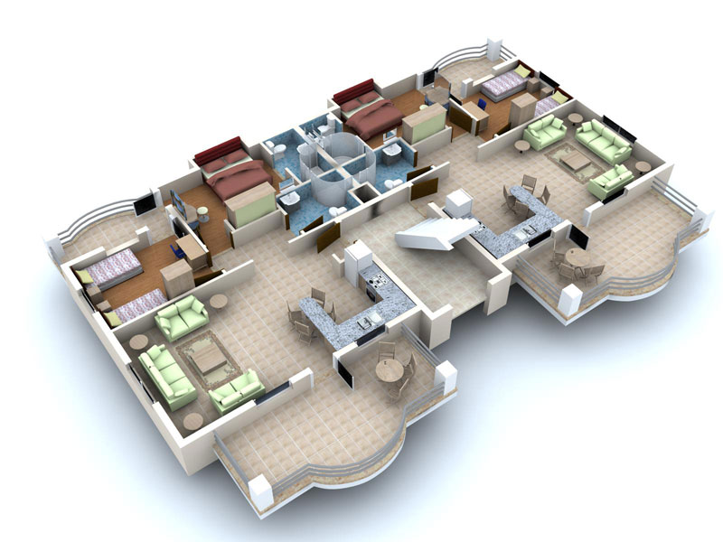 3d villa plan hd walls find wallpapers - 3d Home Floor Plan