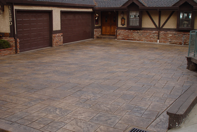 beautify your home with a decorative concrete drivewaythrough coloring and stamp patterns concrete driveways can enhance - Concrete Driveway Design Ideas