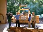 (left) Larry Hoff CW11  Beth Reece & Kurt Propst of Estemerwalt Log Homes