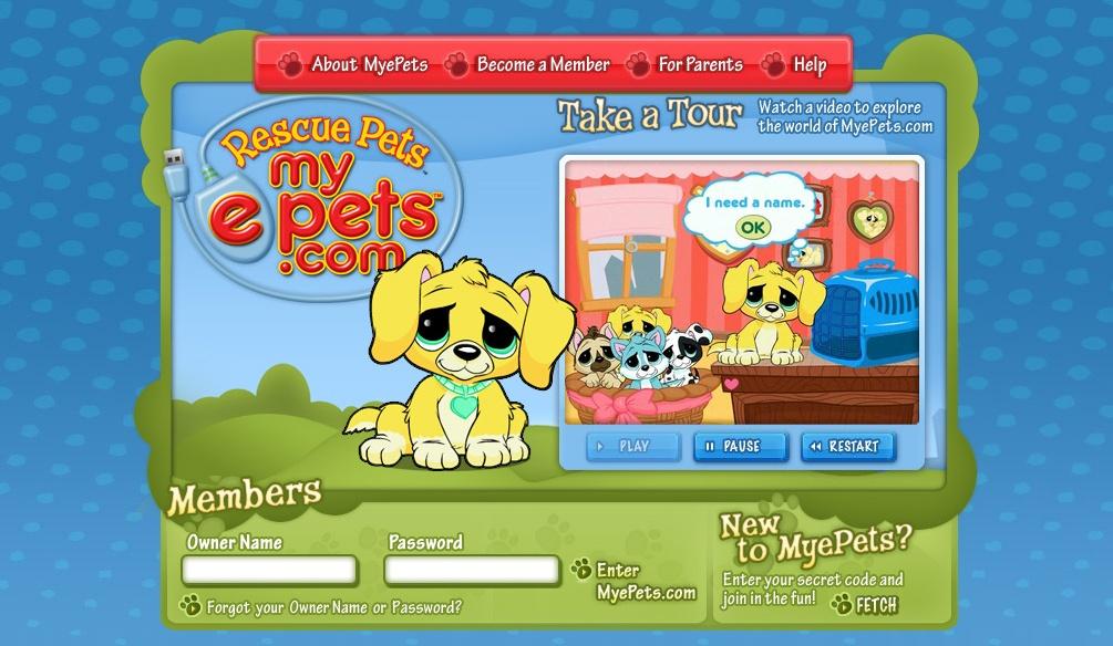 rescue pets tm myepets   tm find a wondrous online virtual home