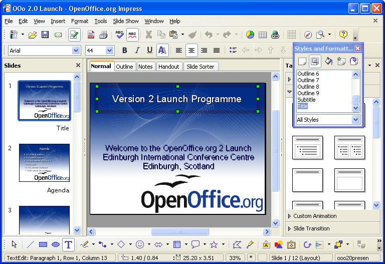 Опен офис как сделать презентацию