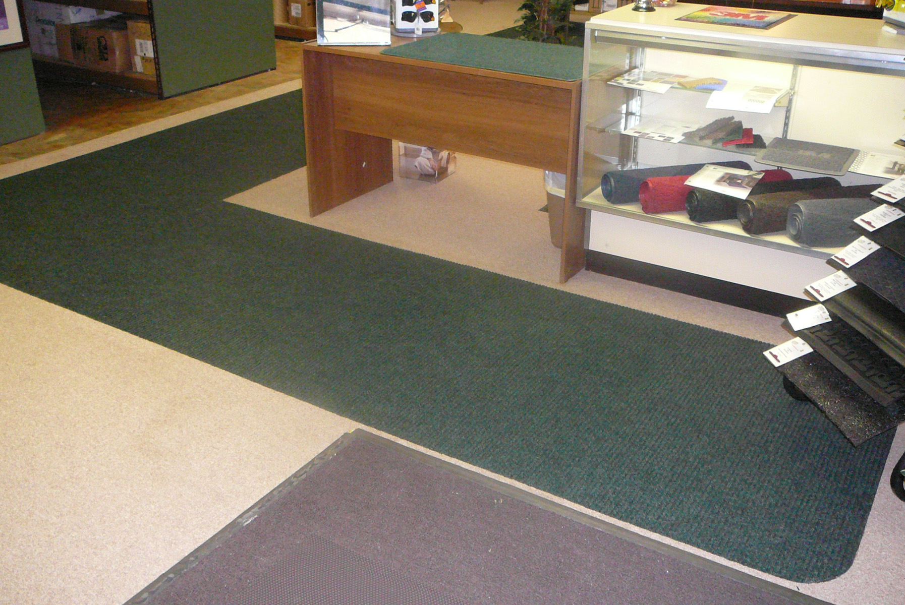 Under carpet or rug heated floor systems warm and dry wet floors martinson nicholls heated floor system under waterhog mattingin this installation over a concrete slab floor the martinson nicholls heating system was dailygadgetfo Images