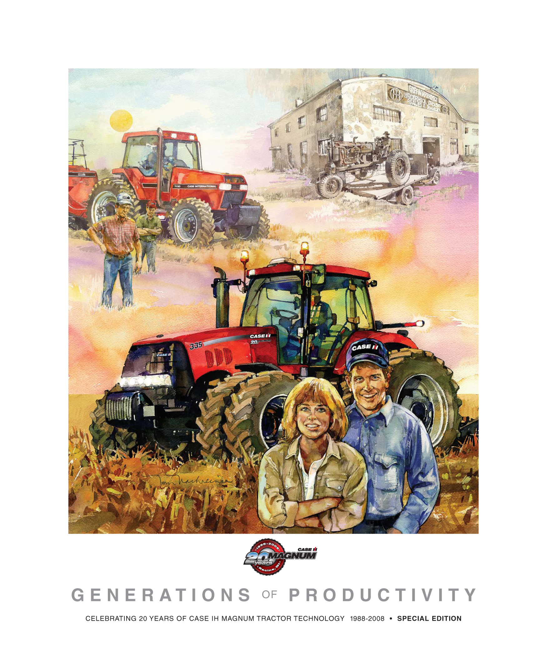 Case Tractor Posters : Art prints for farm tractor fans case ih heritage