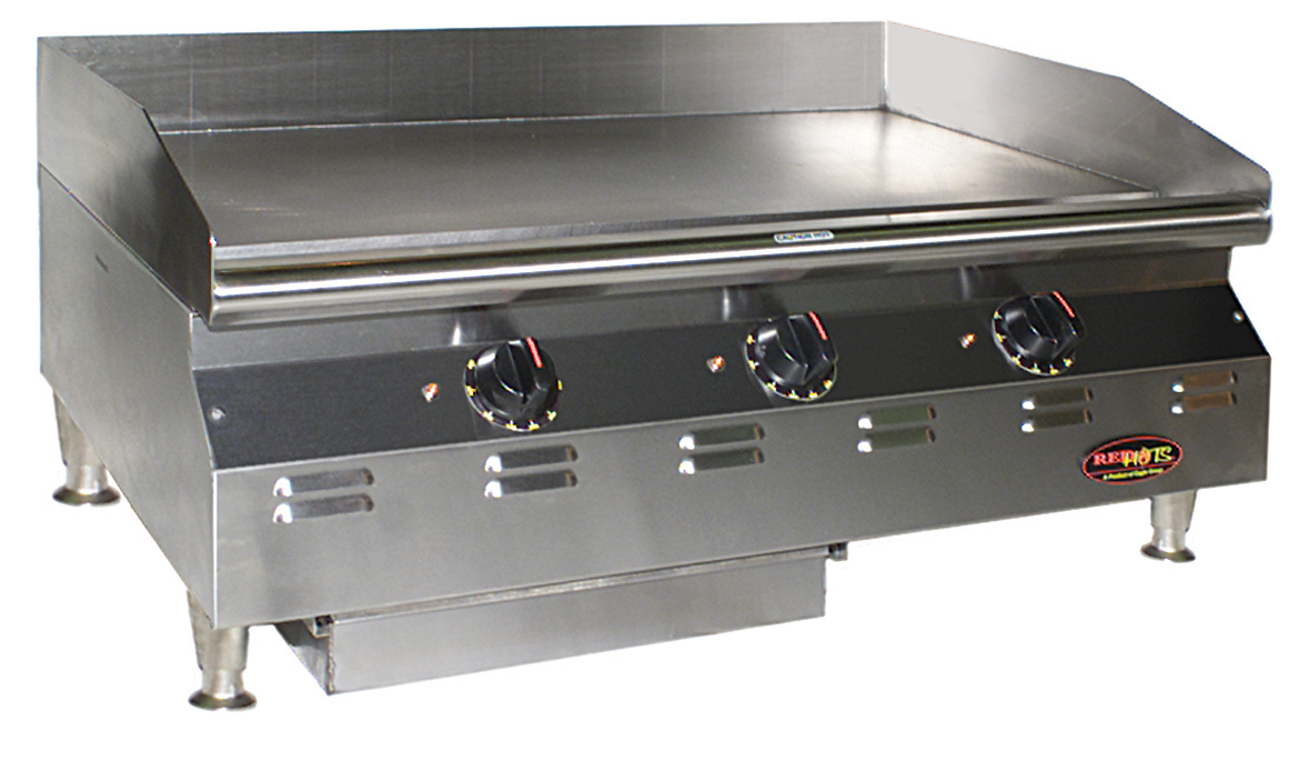Eagle Foodservice Equipment%u2019s UL 197 Rev 9 Compliant Red Hots Chef  Line Griddle.