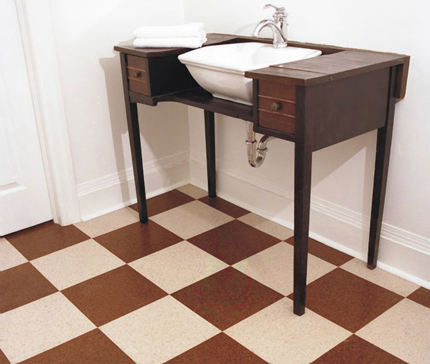 Cork innovations new thicker glue down cork tiles lower impact on cork flooring provides cushioned surface for all roomsthe surface of tile floors can be hard on joints for people with arthritis chronic pain dailygadgetfo Gallery