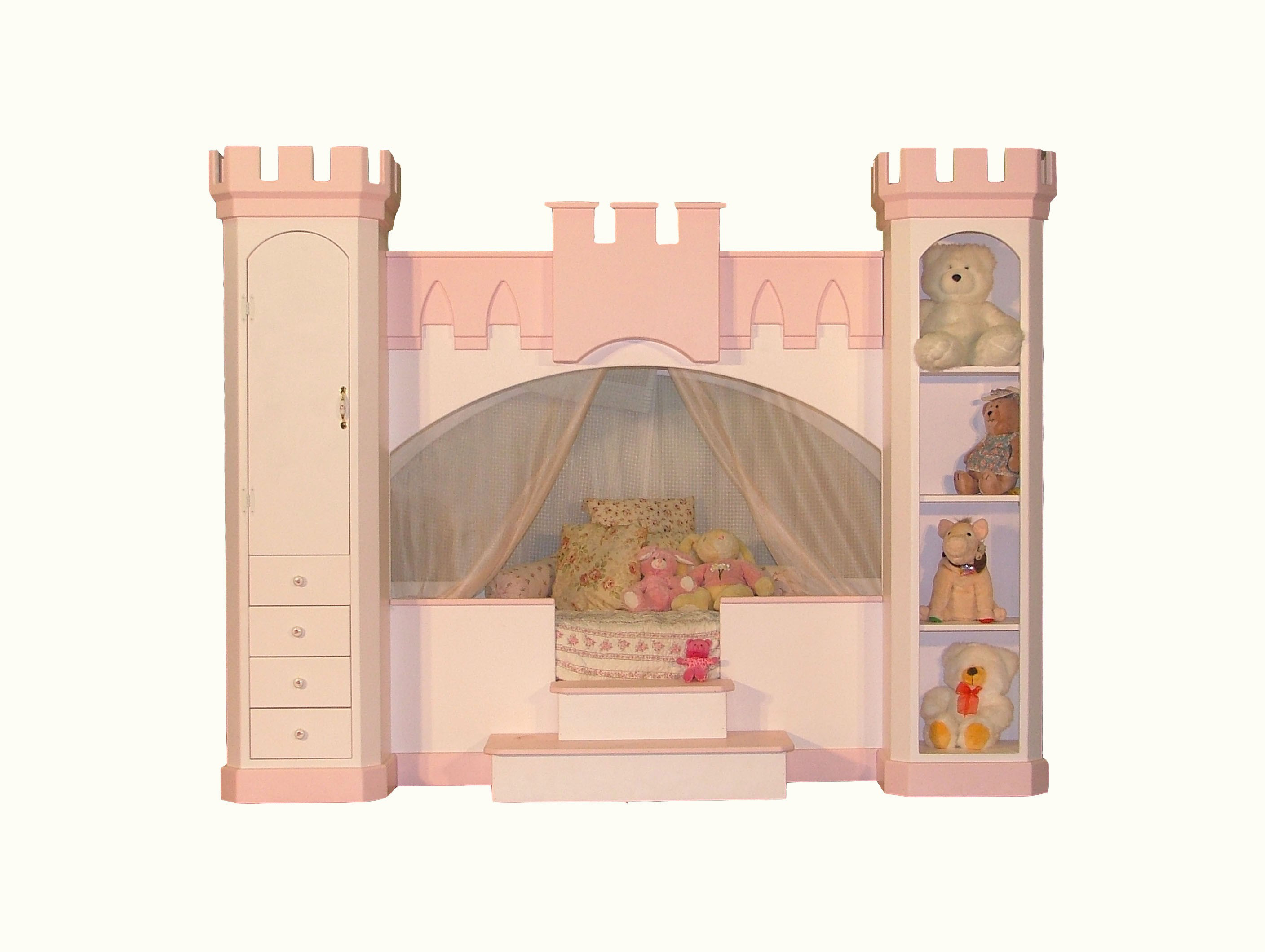 woodland princess castle bunk bed plans