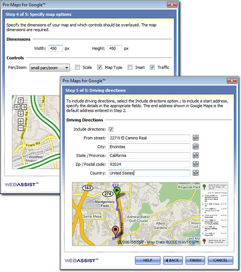 WebAssist Pro Maps for Google Makes Map Integration Simple