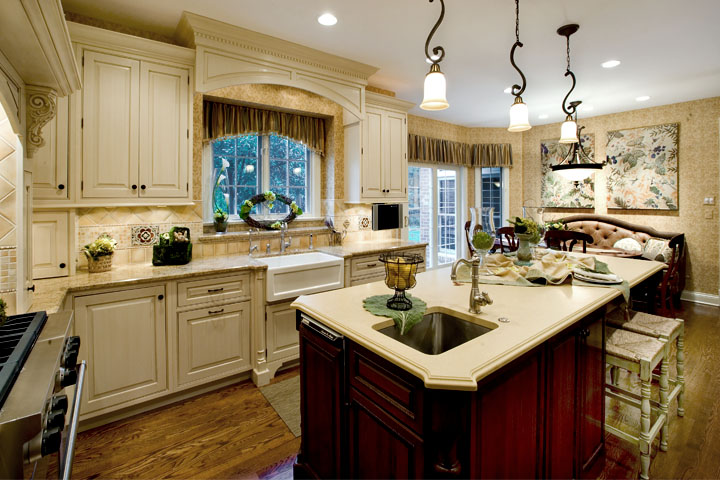 Kitchen design remodel project wins nihba gold award for Custom kitchen remodel