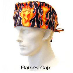 Flames Scrub Cap from surgicalcaps.com