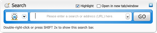 how to clear internet search bar favorites