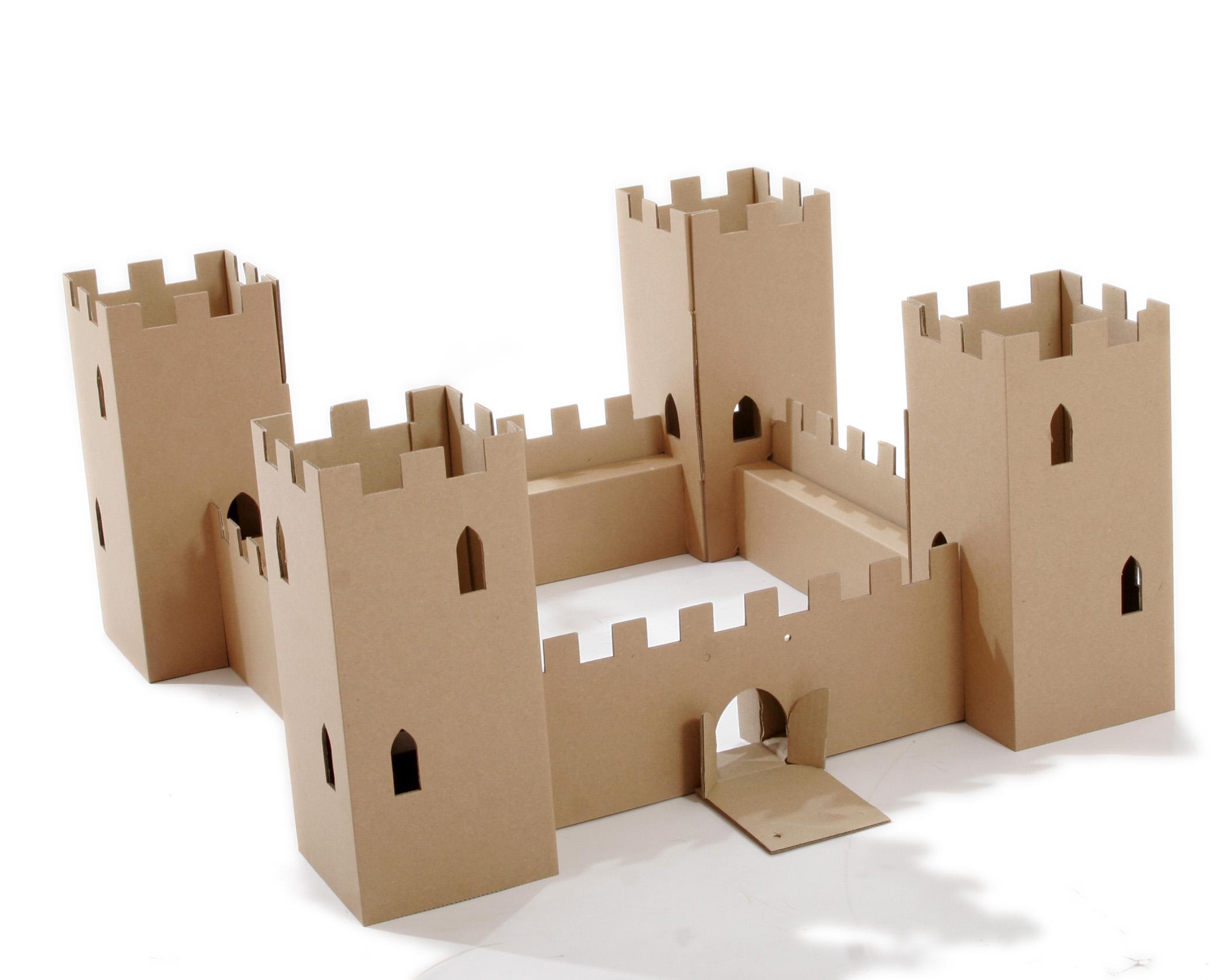 Как сделать небольшой замок из бумаги