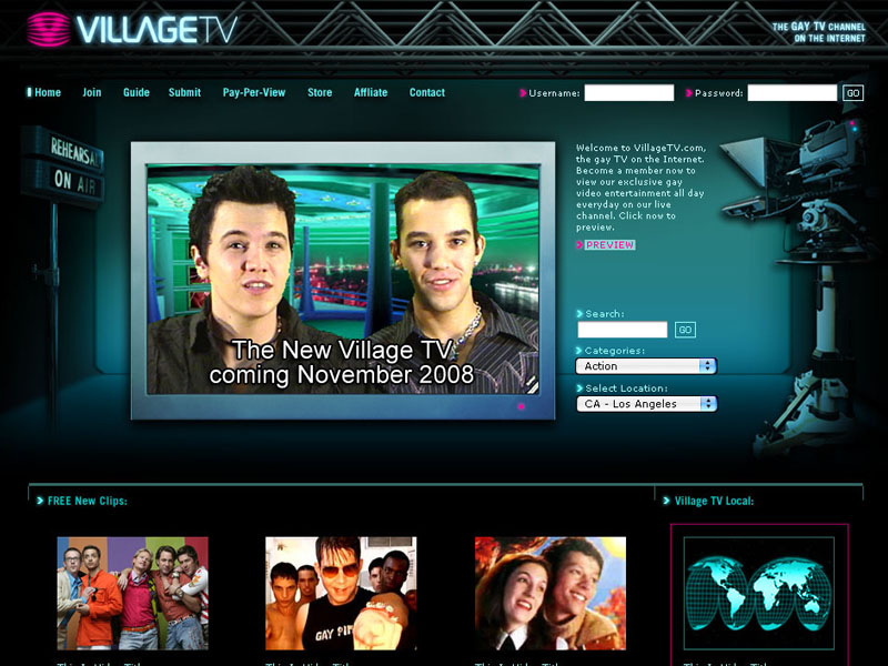 Village TV the new gay TV channel online