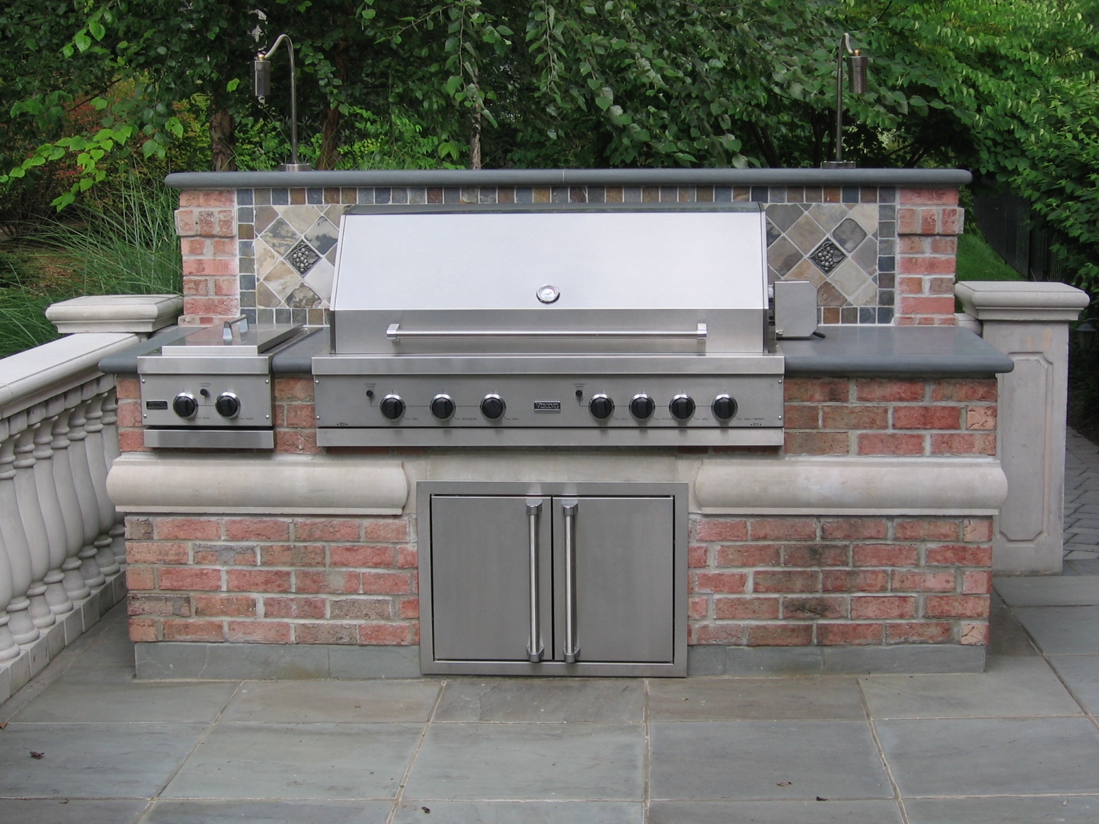 Nj landscape design company raises the bar in outdoor for Backyard barbecues outdoor kitchen