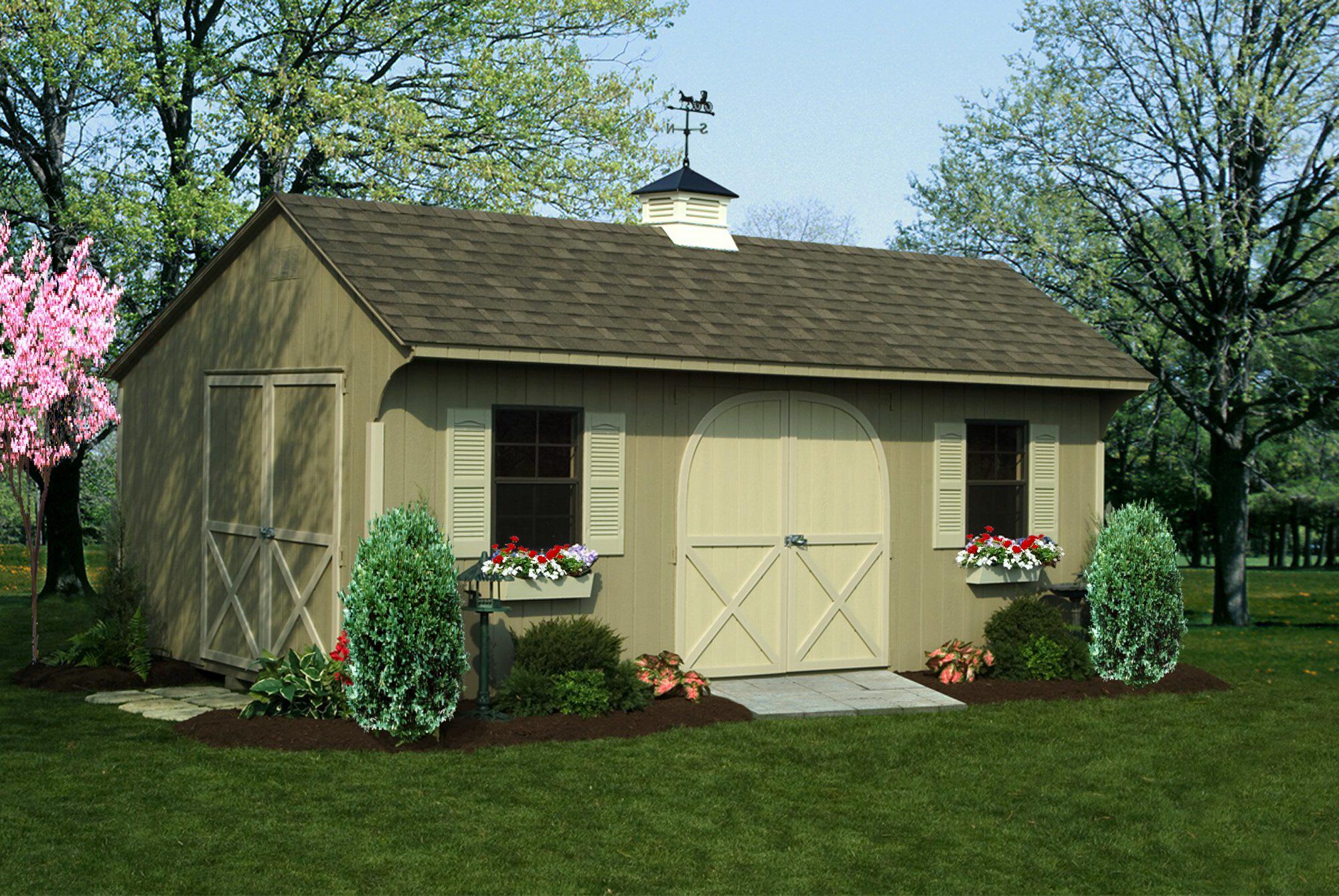 deluxe quaker shed 12 x20 ft - Garden Sheds Nj