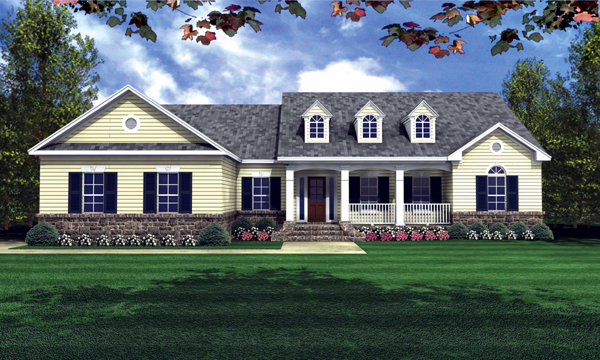 Most-Popular Country House Plans - HPG-2001-1