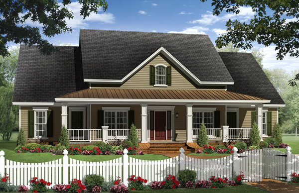 Small home designer wins award at international builders show for Single story farmhouse