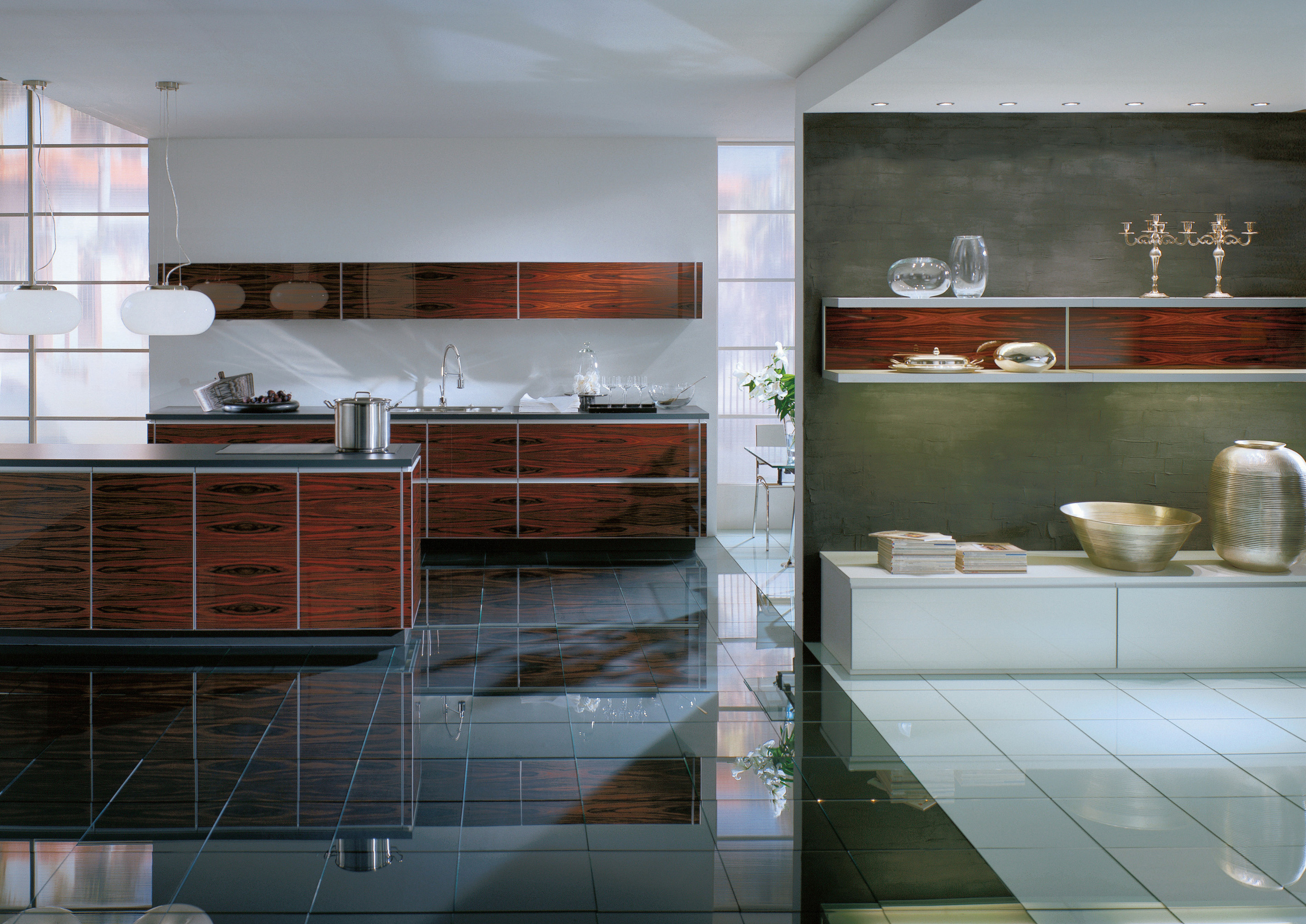 Alno Kitchen Cabinets Chicago -  alno finn collectionexample of drawer organization