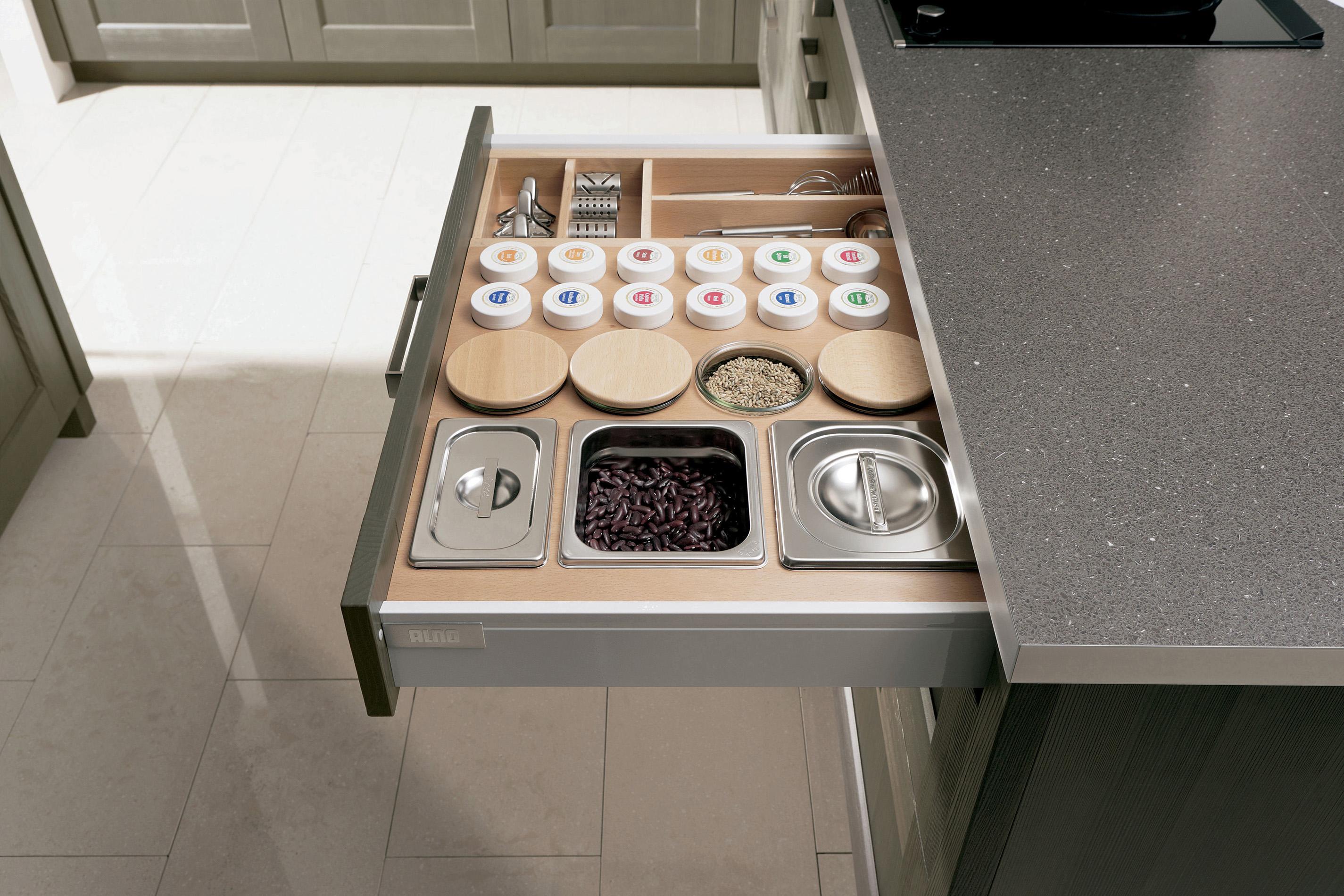 Alno kitchen cabinets chicago -  Alno Finn Collectionexample Of Drawer Organization