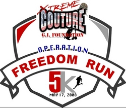 Xtreme Couture 5K Freedom Run. May 18, 2008, in Las Vegas, Nevada