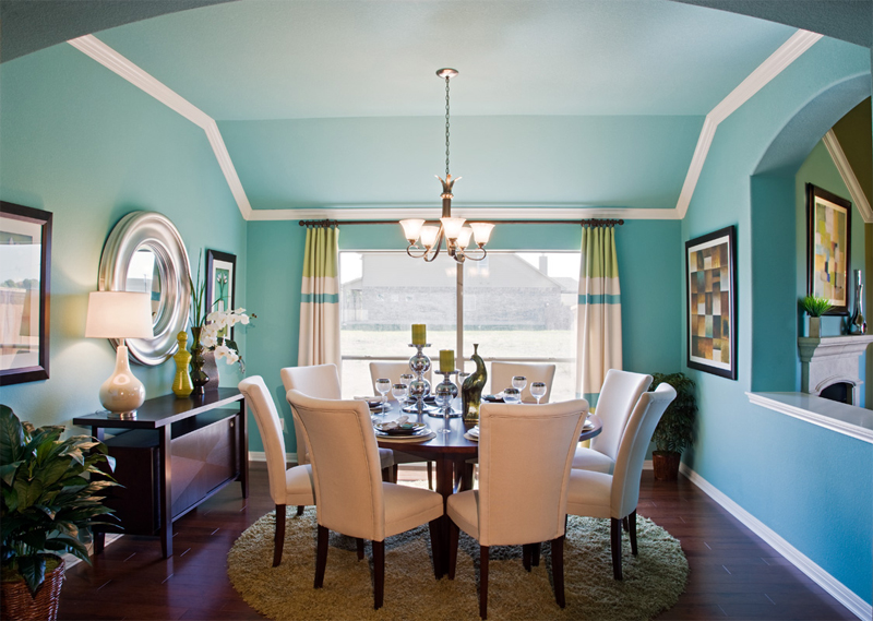 Buffington signature homes opens model homes in two for Model home dining room