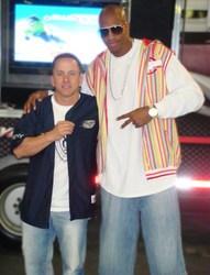 Rob Gullery with Jerome Williams at NY Custom Auto Show.