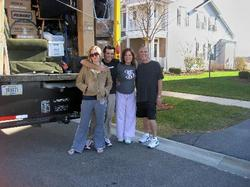 Pictured above is the Krzyston Family outside of their 26-ft Penske moving truck the morning of their cross-country move from Chicago, IL