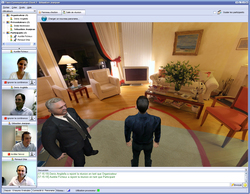 3D web conferencing for virtual tour
