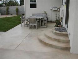 Concrete patio featuring decorative concrete.