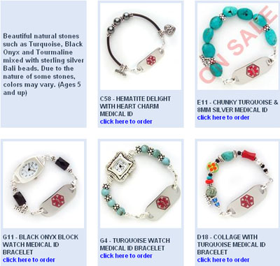Medical Bracelets, stylish medical bracelets, custom medical