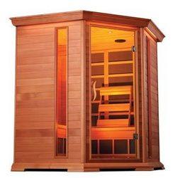 Crystal Sauna - Corner Infrared Sauna
