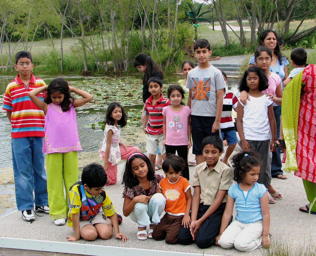 Kids at Barsana Dham Ashram