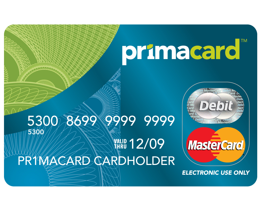 features the prepaid mastercard partner card.