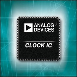 gI 0 BWNewsImage1400844 Analog Devices Programmable Clock Generators Simplify System Design and Reduce Clocking Component Count :  ADIs AD9520/2 multi output clock generators deliver a high quality clock signal and flexible outputs, while on chip memory reduces system start up programming requirements.