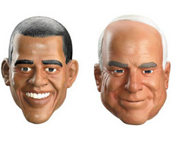Barack Obama u0026 John McCain Political Masks  sc 1 st  PR Web & Obama or McCain? Anytime Costumes Releases Which Halloween Masks ...