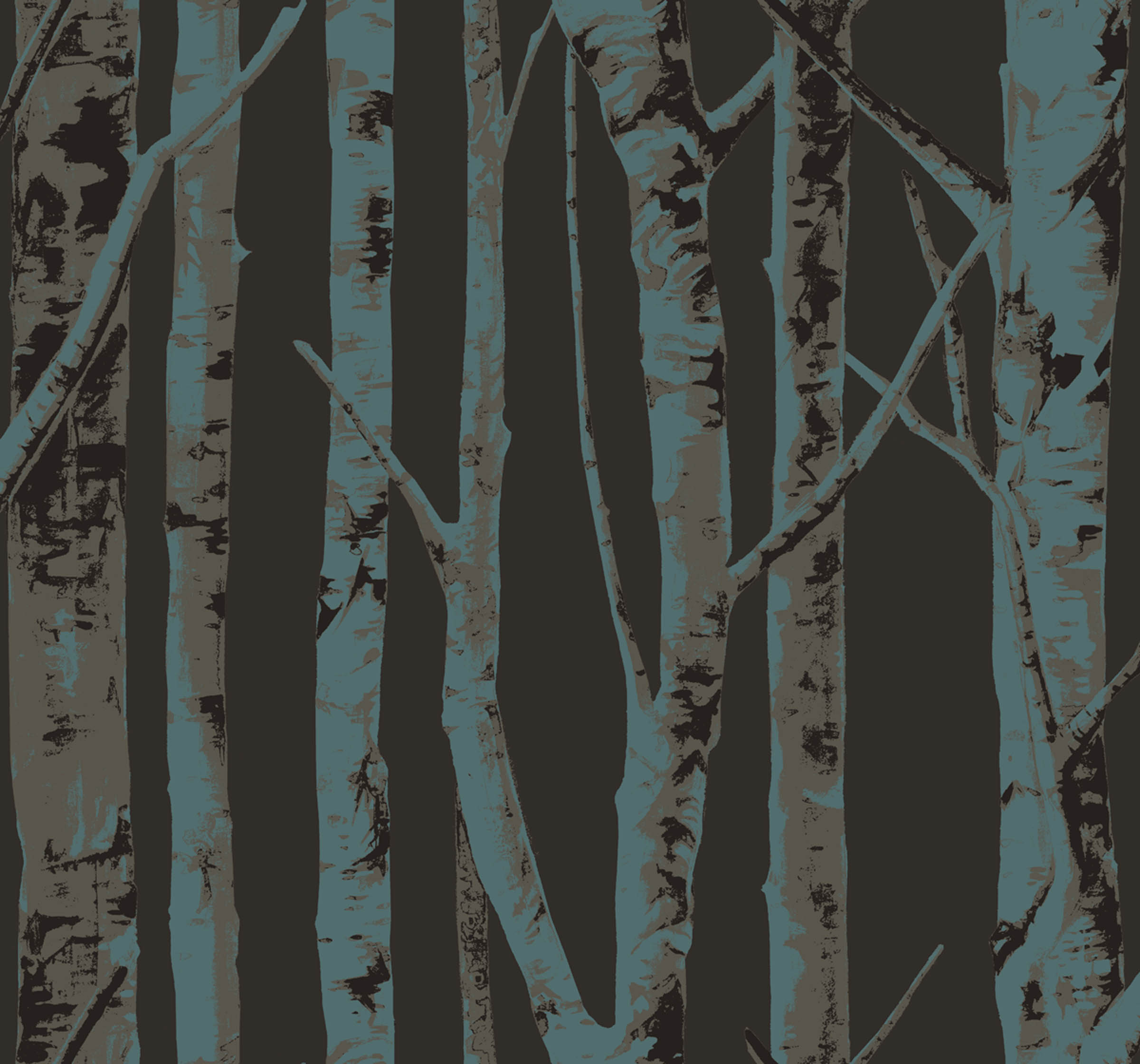 "Birch Trees design from Sandpiper Studios' ""Eco Chic"" wallpaper collection."